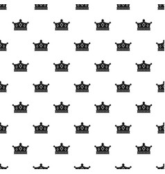 prince crown pattern vector image vector image