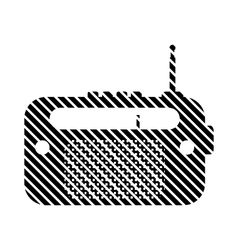 Radio sign on white vector image vector image