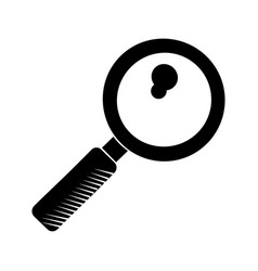 Search discovery observe loupe pictogram vector