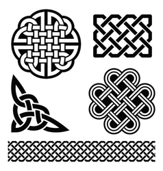 Celtic knots braids and patterns - vector image