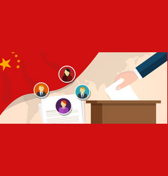 china democracy political process selecting vector image