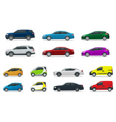 flat high quality city transport car icon set vector image vector image