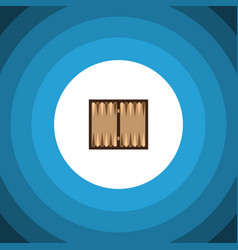 isolated backgammon flat icon dice element vector image vector image
