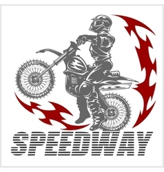 Motocross rider on a motorcycle - vector image