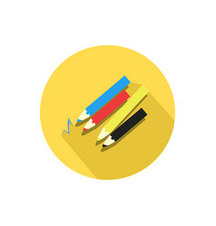 Pencil icon isolated on a white background vector