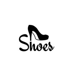Shoes logo vector image