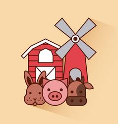 big farm flat vector image