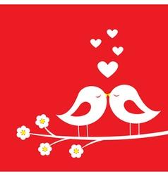 Kiss of birds vector image vector image