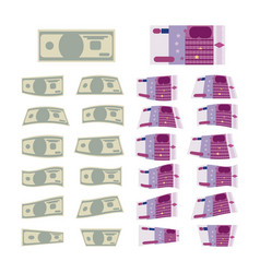 set of money vector image