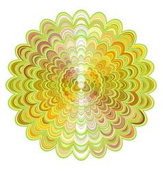 abstract floral mandala ornament design - vector image