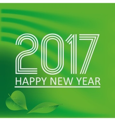 happy new year 2017 on green abstract color vector image vector image