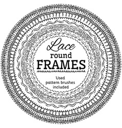 set of lace round frames vector image