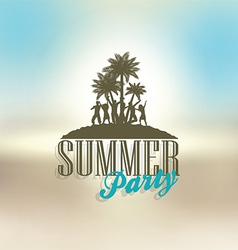 Summer party background vector image vector image