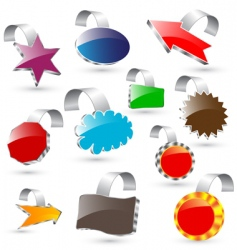 3d vector labels vector image