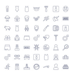 49 male icons vector