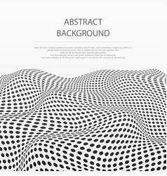 abstract of dots stripe wave pattern background vector image