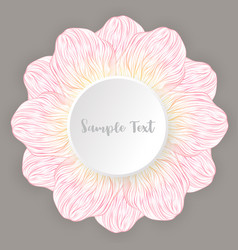 Abstract petal floral pink flower lined art vector