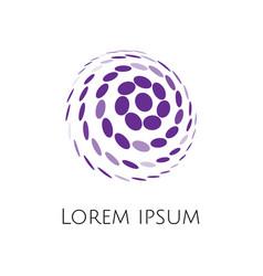 Abstract spheric circular shape ball logo vector