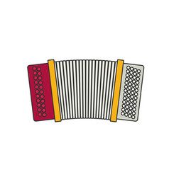 Accordion flat vector
