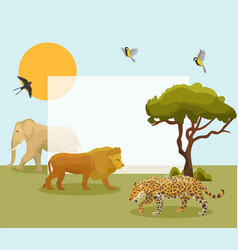 african animals frame vector image