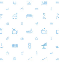 Antenna icons pattern seamless white background vector