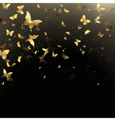 Background of butterflies confetti vector