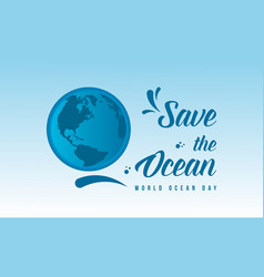 Background world ocean day graphic collection vector