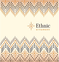 Beautiful vintage ethnic ornament background vector