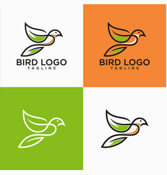 bird lineart logo design stock vector image