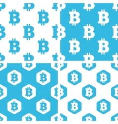 Bitcoin patterns set vector