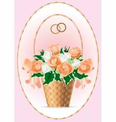 Bridal bouquet vector