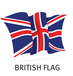 British Canvas Waving Flag in vector image