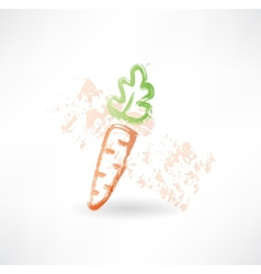 Carrot grunge icon vector image