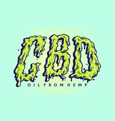 cbd kush melt lettering vector image