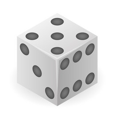 Chance dice icon isometric style vector