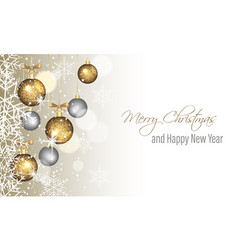 Christmas greeting card happy new year vector
