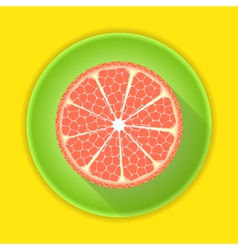 Citrus fruit grapefruit icon vector
