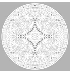 coloring book page for adults - zendala vector image