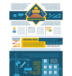 construction and house building industry banner vector image