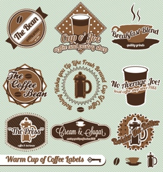 Cup of Coffee Labels vector image