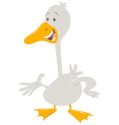 Cute goose farm animal character vector