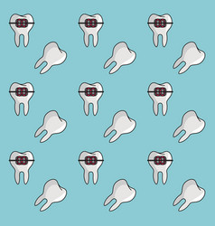 Dental braces background vector