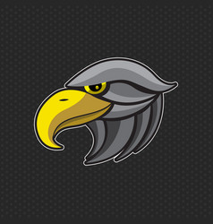 eagles logo design template eagles head icon vector image