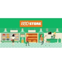 Eco food store vector
