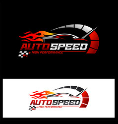 fast and speed logo template vector image