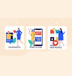 finding love in social media platforms banner vector image
