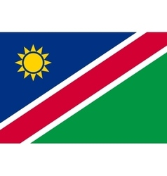 Flag of Namibia in correct proportions and colors vector image