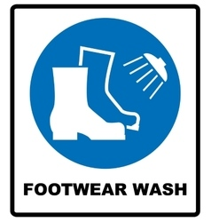 Footwear wash sign vector