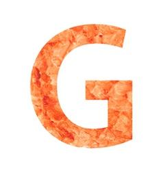 g land letter vector image