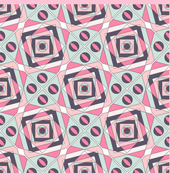 geometric color seamless pattern of pastel shades vector image